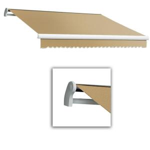Awntech 16 Ft Destin Lx With Hood Manual Retractable Awning 120 In Projection In Brown Tan Da16 Brnt The Home Depot