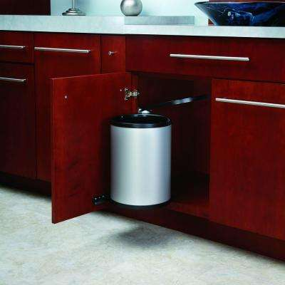 15.75 in. H x 11 in. W x 10.5 in. D 14-Liter Stainless Pivot-Out Under Sink Waste Container