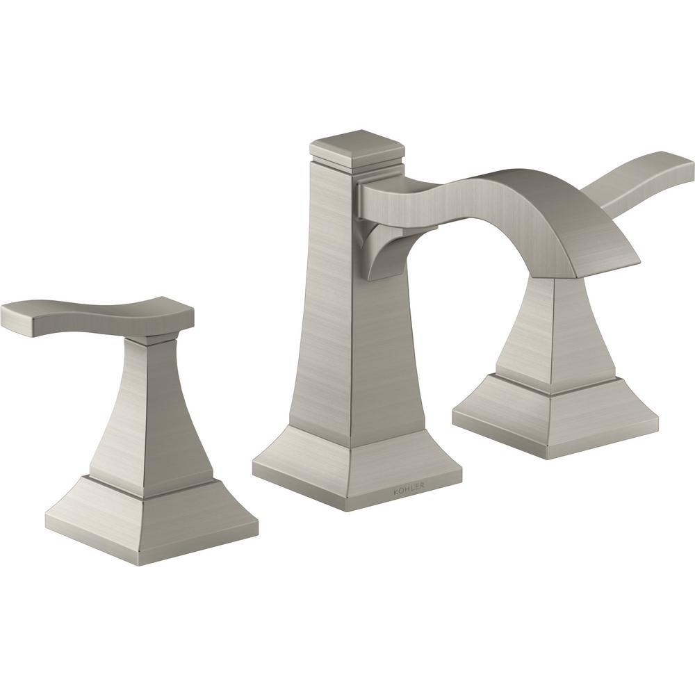 KOHLER Truss 8 in. Widespread 2-Handle Bathroom Faucet in Vibrant Brushed Nickel