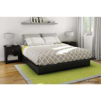 Step One King-Size Platform Bed in Pure Black