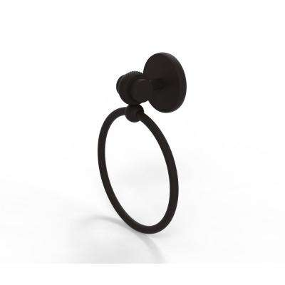 Satellite Orbit Two Collection Towel Ring with Twist Accent in Oil Rubbed Bronze