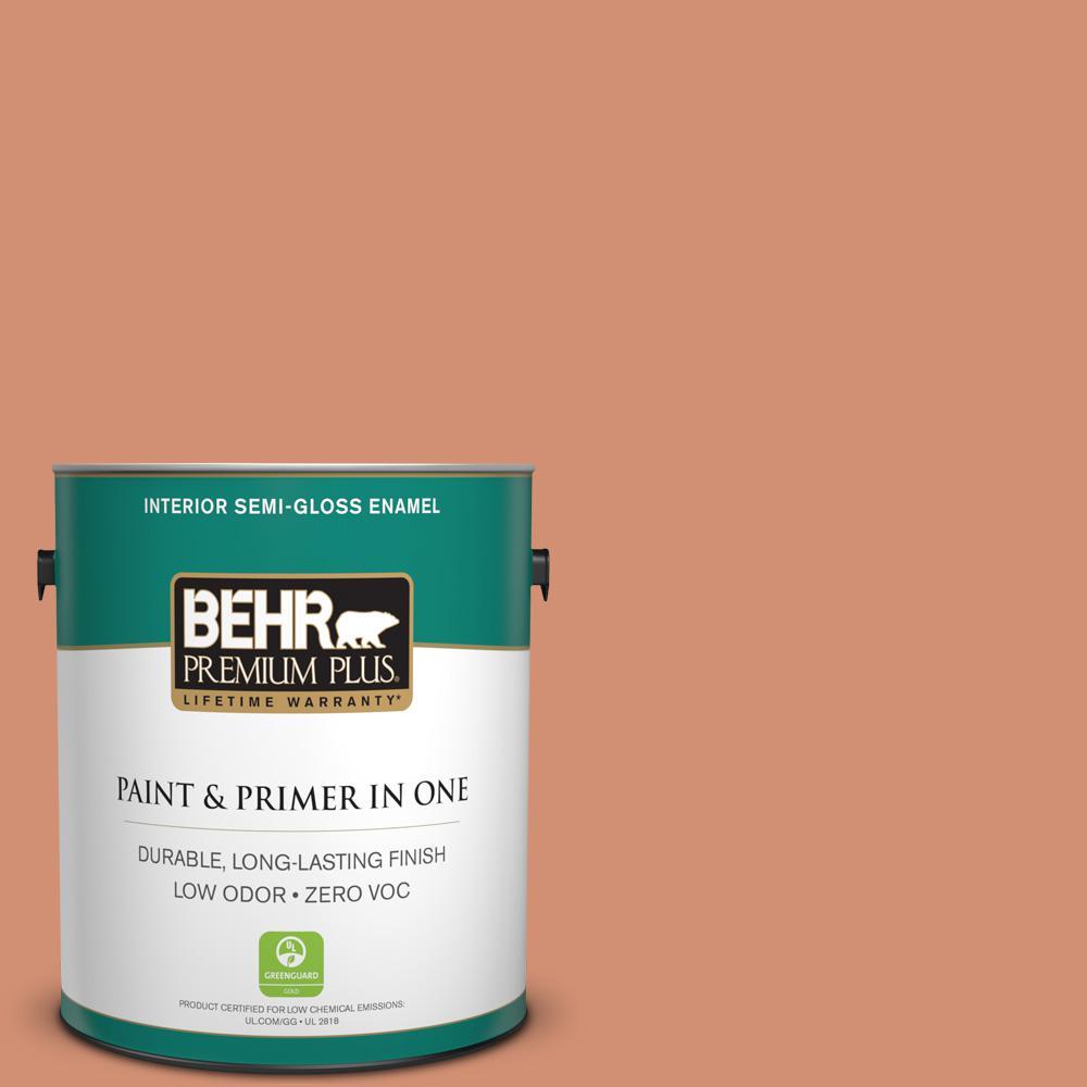 1-gal. #M200-5 Terra Cotta Clay Semi-Gloss Enamel Interior Paint