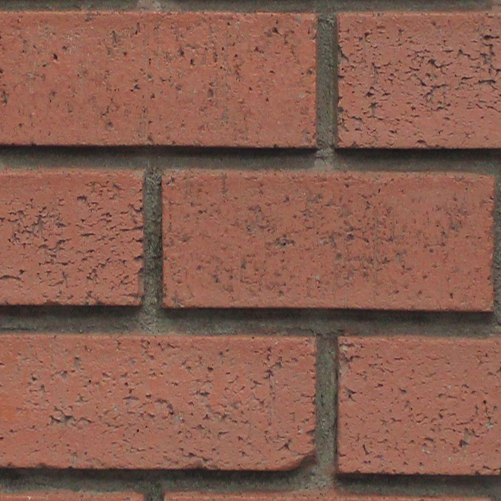 Red Brick 8 in. x 8 in. x 3/4 in. Faux New Brick Stone Sample