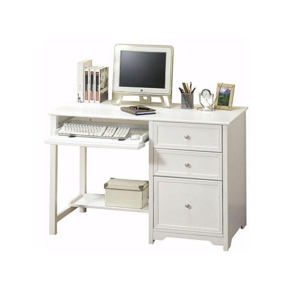 desk drawer with drawers dp amazon furniture computer white kitchen dining com writing wh unique