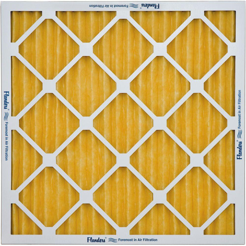 Flanders PrecisionAire 12 in. x 24 in. x 4 in. Pre-Pleat 62R Pleated Air Filter (Case of 6)