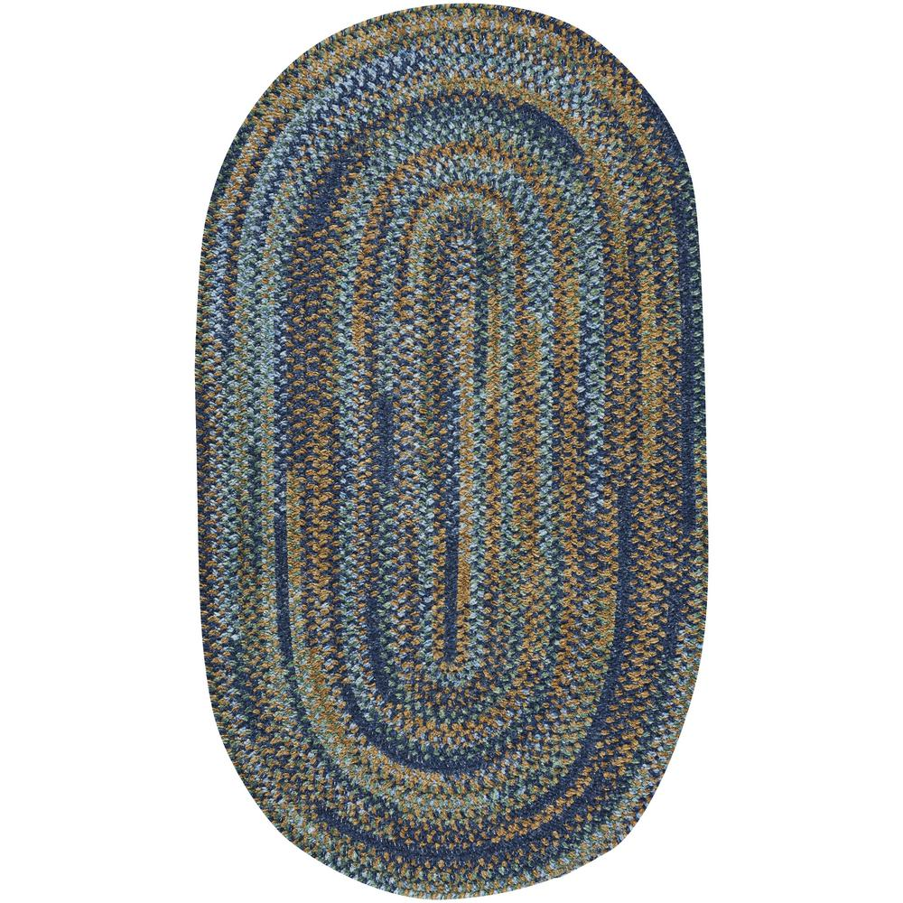 Capel habitat ocean blue 2 ft x 3 ft oval area rug for Accent rug vs area rug