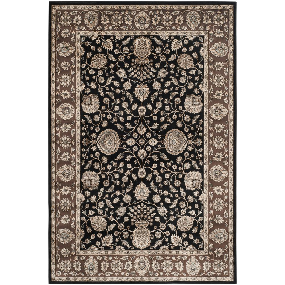 Safavieh Persian Garden Black Brown 7 Ft X 9 Ft Area Rug Peg610f 6