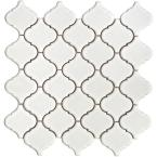 Lantern 12-1/2 in. x 12-1/2 in. x 5 mm White Porcelain Mesh-Mounted Mosaic Tile (11 sq. ft. /case)-DISCONTINUED