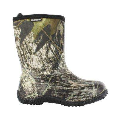 Classic Mid Camo Kids 9 in. Size 6 Mossy Oak Rubber with Neoprene Waterproof Boot