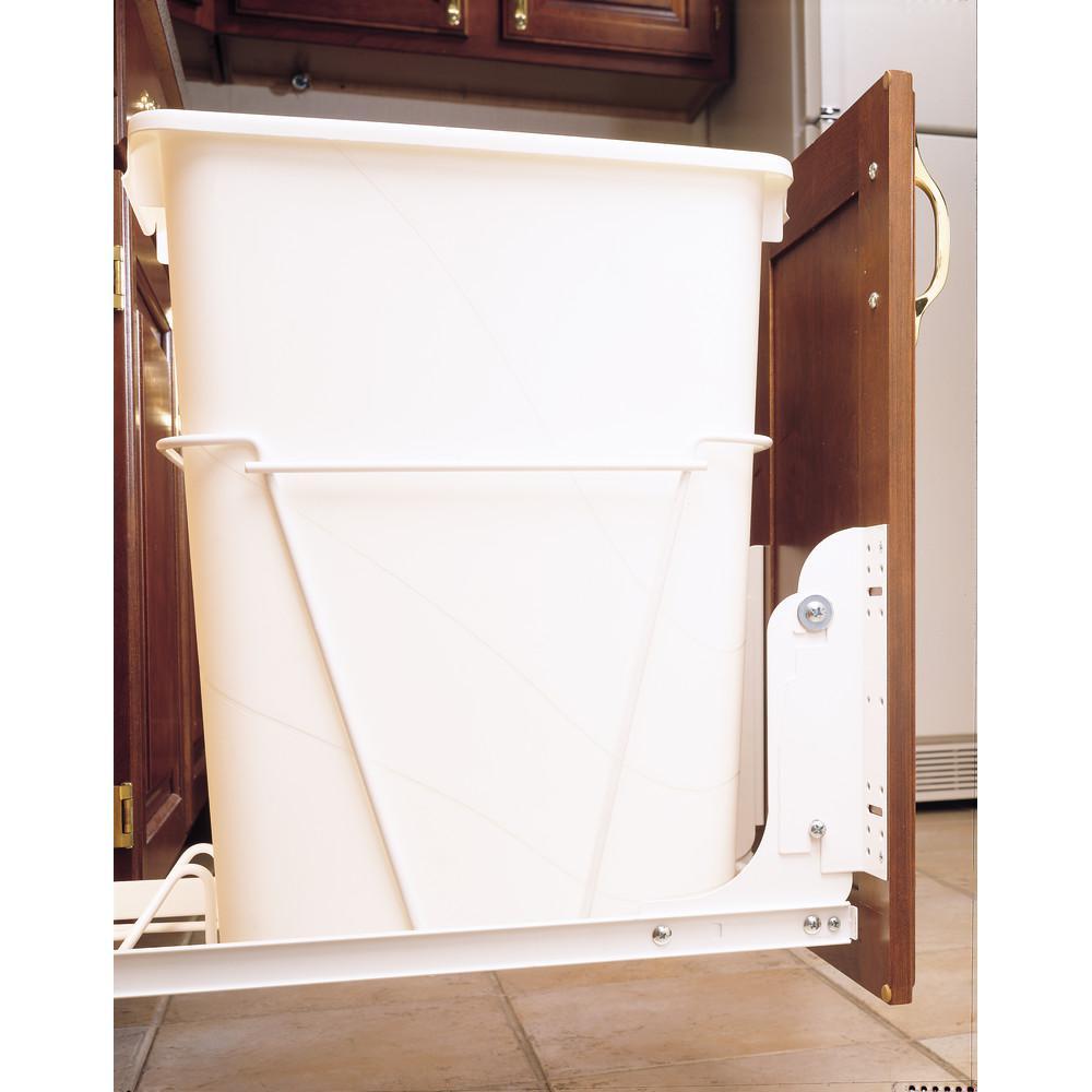 kitchen under sink cabinet trash can slide out waste garbage hardware mount kit 90713041728 ebay. Black Bedroom Furniture Sets. Home Design Ideas