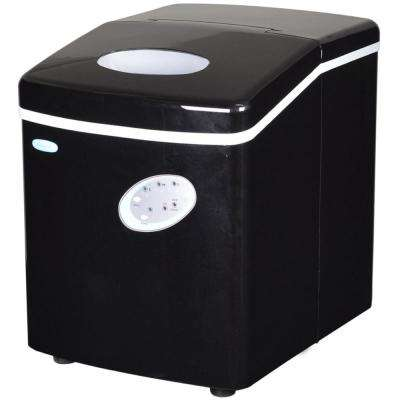 28 lb. Freestanding Ice Maker in Black