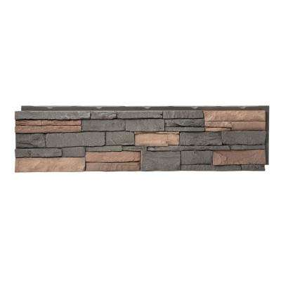 Stacked Stone Stratford 12 in  x 42 in  Faux Stone Siding Panel