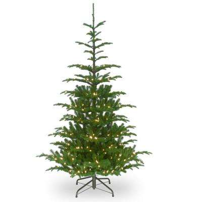 6-1/2 ft. Feel Real Norwegian Spruce Hinged Tree with 650 Clear Lights
