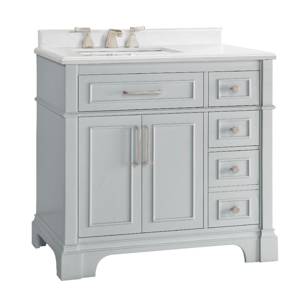 D Bath Vanity In Dove Grey, 36 Bathroom Vanities With Tops