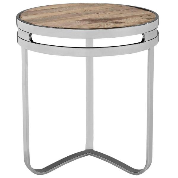 MODWAY Brown Provision Wood Top Side Table EEI-1214-BRN