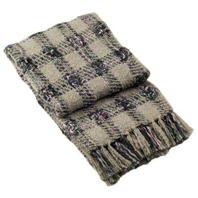 Penny Knit Rosewood Throw