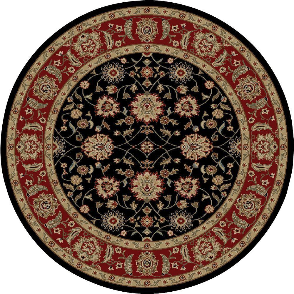 Concord Global Trading Ankara Zeigler Black 8 Ft Round