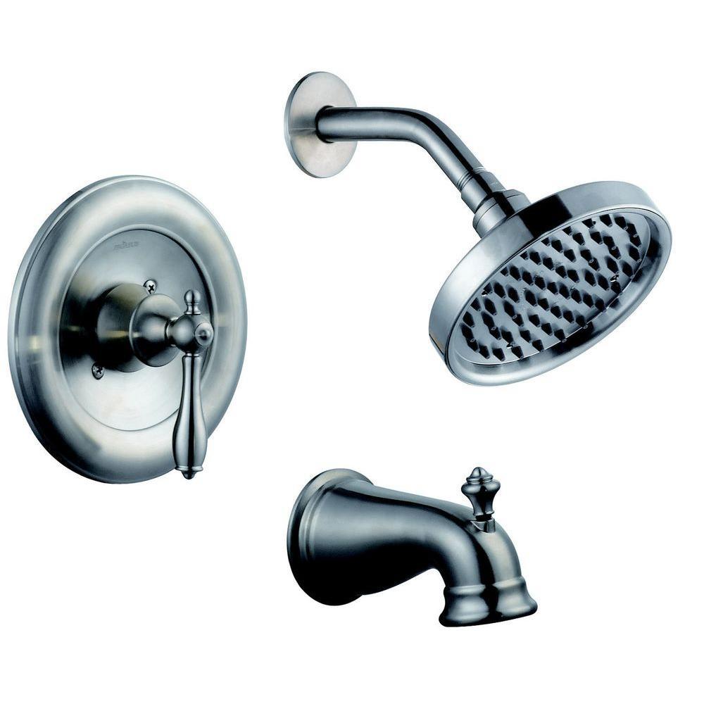 Pegasus Estates 1-Handle Tub and Shower Faucet in Brushed Nickel