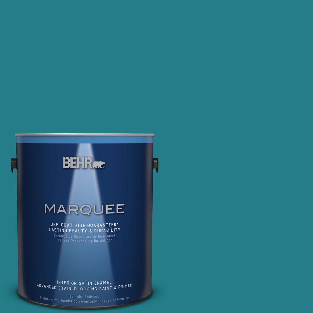 1 gal. #PPU13-1 Caribe One-Coat Hide Satin Enamel Interior Paint