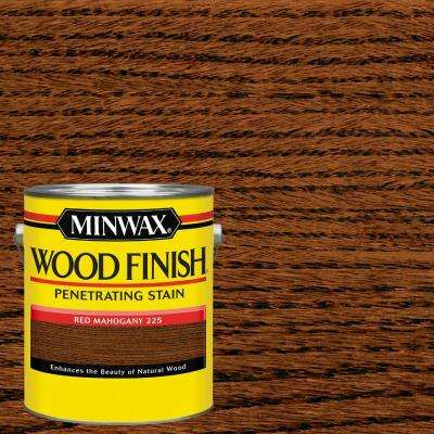 1 gal. Wood Finish Red Mahogany Oil-Based Interior Stain (2-Pack)