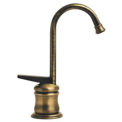 1-Handle Instant Hot Water Dispenser in Antique Brass