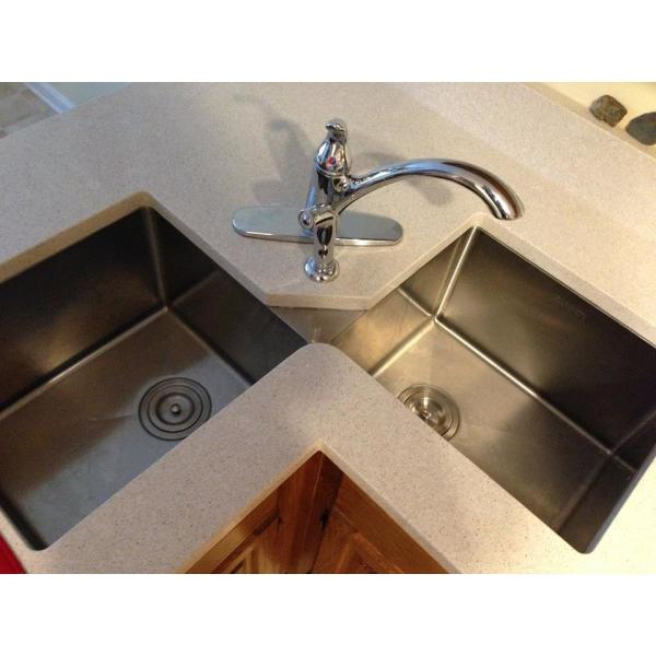 Reviews For Ruvati 50 50 Undermount 16 Gauge Stainless Steel 44 In Corner Butterfly Double Bowl Kitchen Sink Rvh8400 The Home Depot