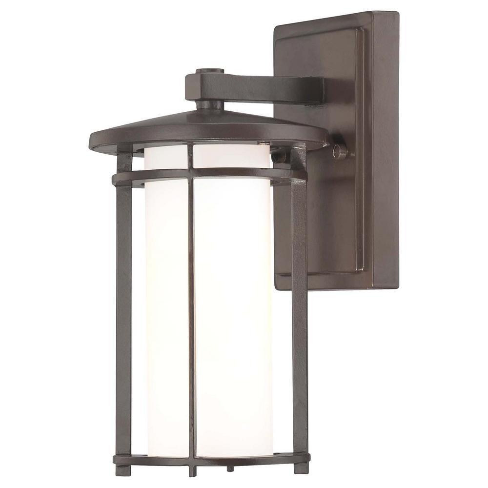 Addison Park 1-Light Dorian Bronze Outdoor Wall Mount Lantern