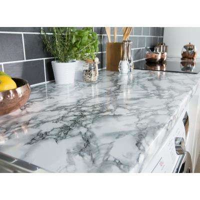 26 in. x 78 in. Marble White Self-adhesive Vinyl Film for Furniture and Door Renovation/Decoration