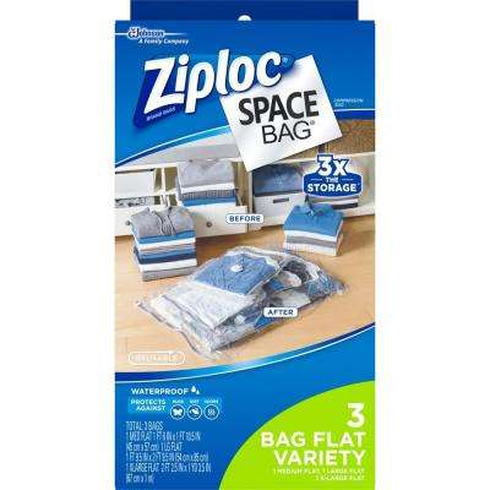 Medium/Large/Xlarge Plastic Space Bag Combo 4-3/pack