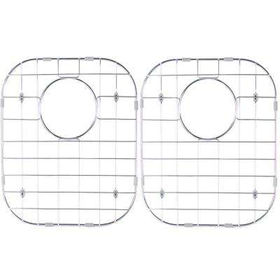 Stainless Steel Sink Grid - Fits 50/50 Double Bowl Sink 32-1/4x18-1/2 (Set of 2)