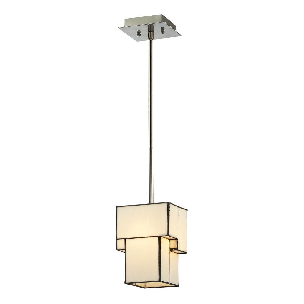 Braque Collection 1-Light Brushed Nickel Mini Pendant