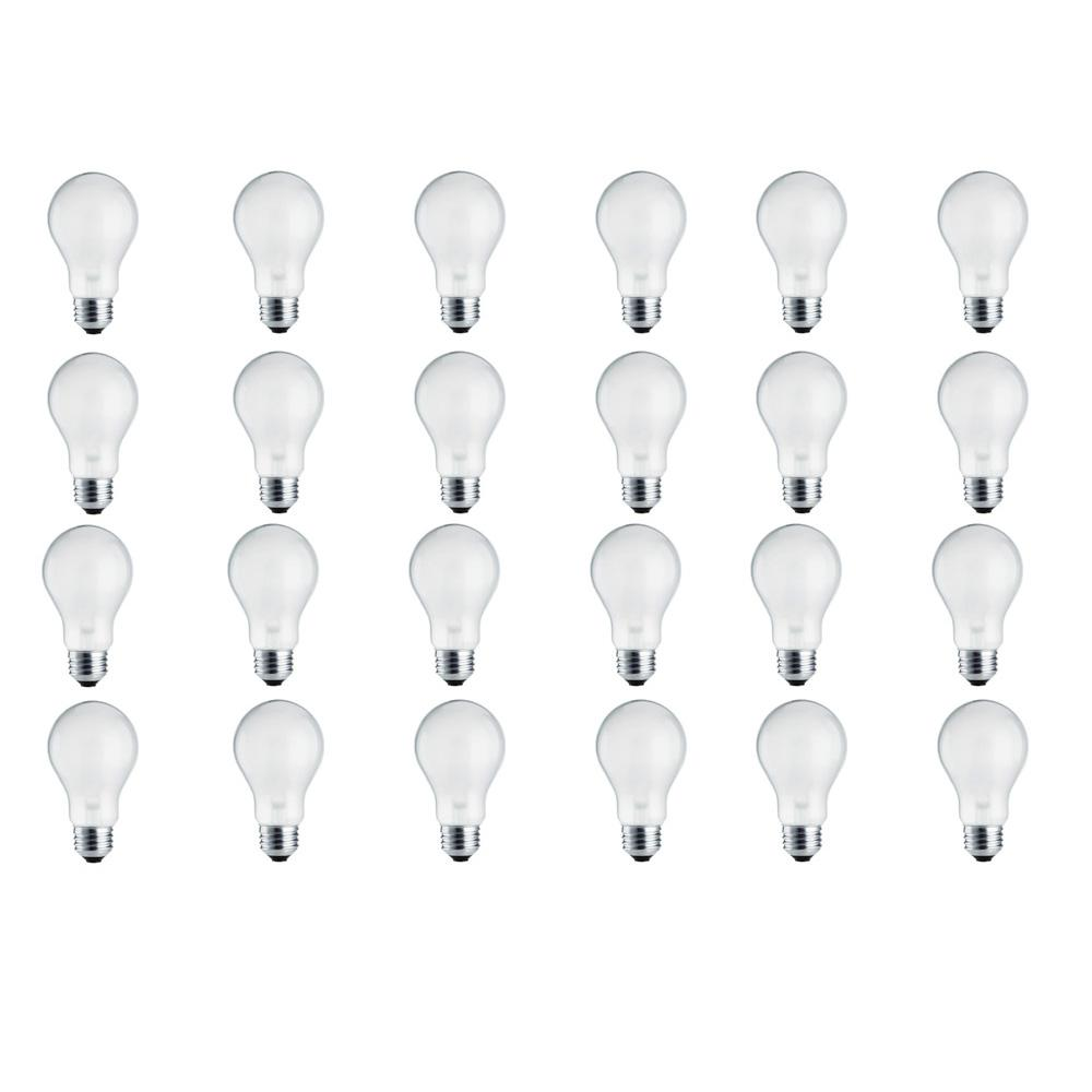 100-Watt Equivalent A19 Halogen Long Life Light Bulb (24-Pack)