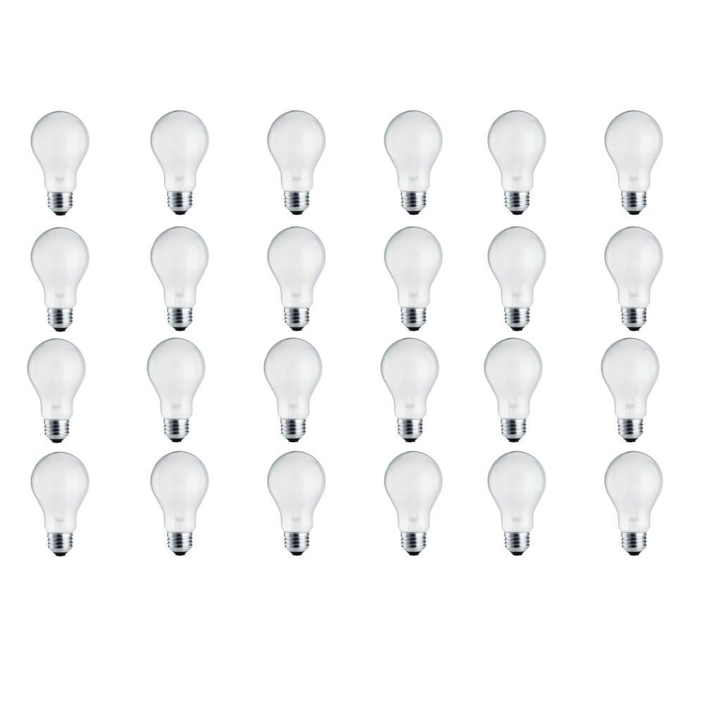 100-Watt Equivalent A19 Halogen Long Life Light Bulb (24-Pack)