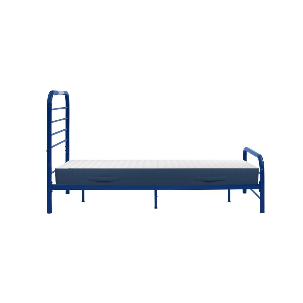 Timothy Twin Size Complete Bed with Task Lighting in Royal Blue