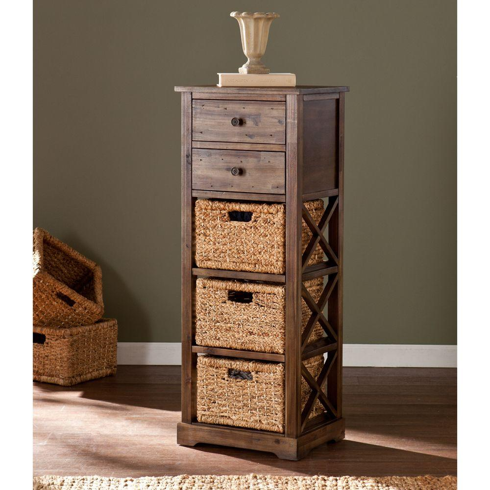 Southern Enterprises Antique Brown Chest-HD866277 - The Home Depot
