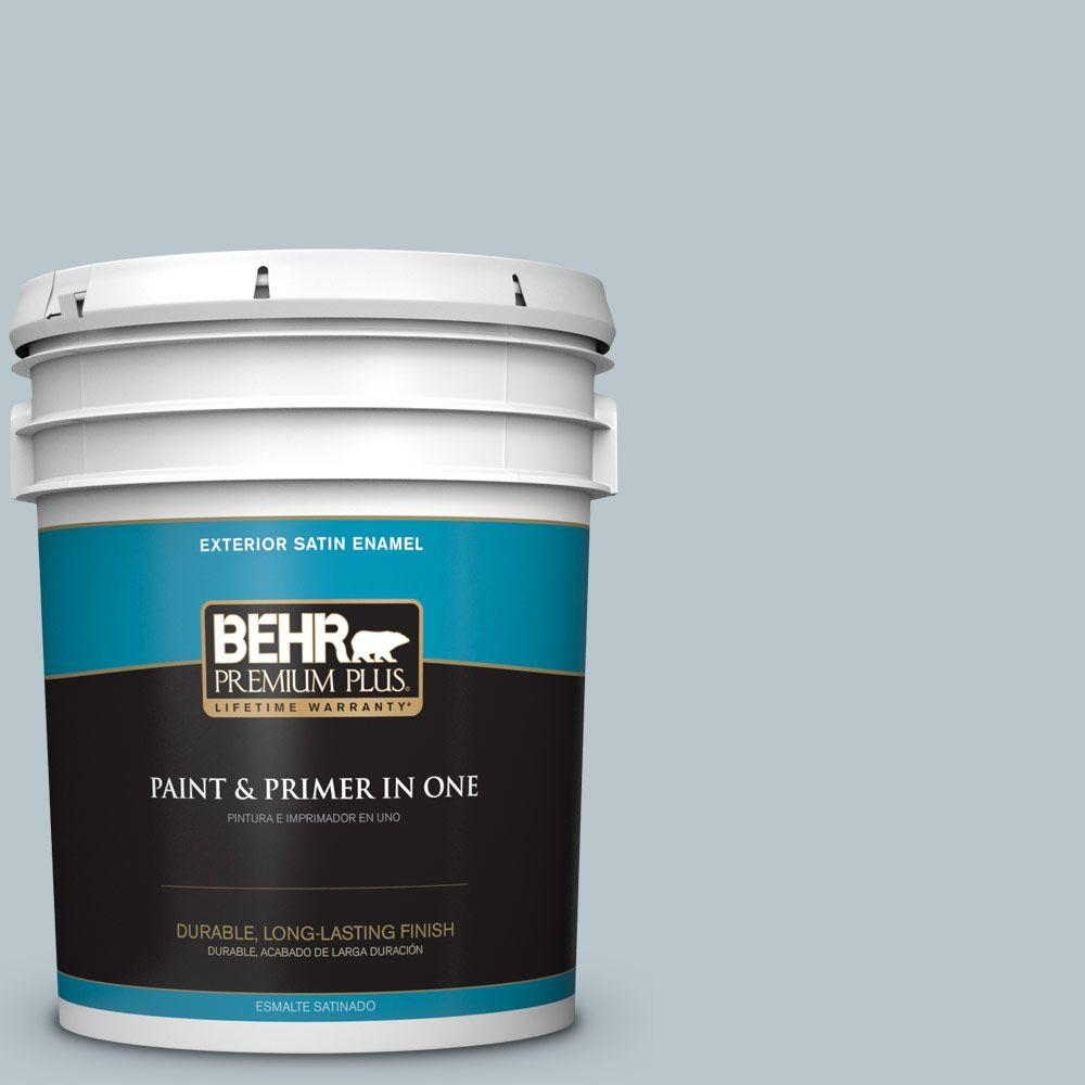 5-gal. #N480-2 Flowing Breeze Satin Enamel Exterior Paint