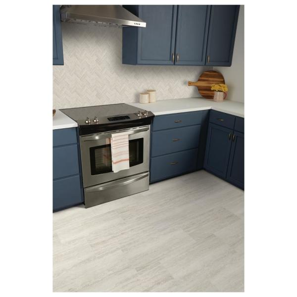 Marazzi Stonehollow Mist 12 In X 24 In Glazed Porcelain Floor And Wall Tile 15 6 Sq Ft Case Sh201224hd1p6 The Home Depot