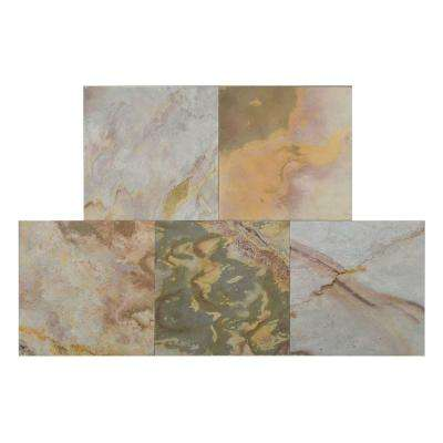 Indian Autumn 12 in. x 12 in. Slate Peel and Stick Wall Tile (5 sq. ft. / pack)