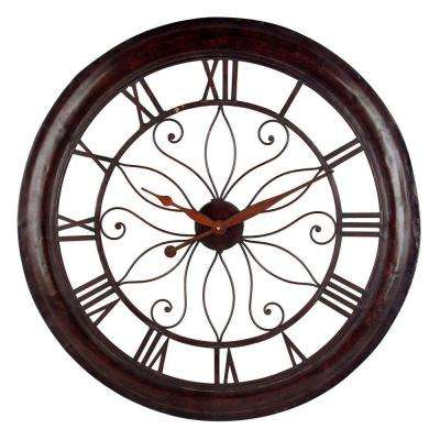 30-1/4 in. Open Back Rust Wall Clock