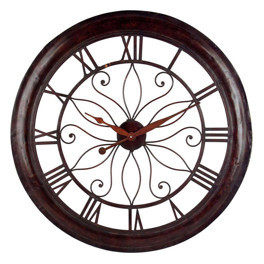 30-1/4 in. Open Back Rust Wall Clock