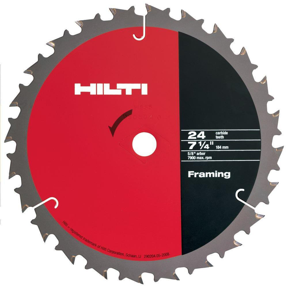 Hilti W-CSC 7-1/4 in. x 24-Teeth Circular Saw Framing Blades Contractor's (50-Pack)