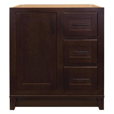 Kinghurst 30 in. W x 21 in. D x 33.5 in. H Bathroom Vanity Cabinet Only in Dark Cognac