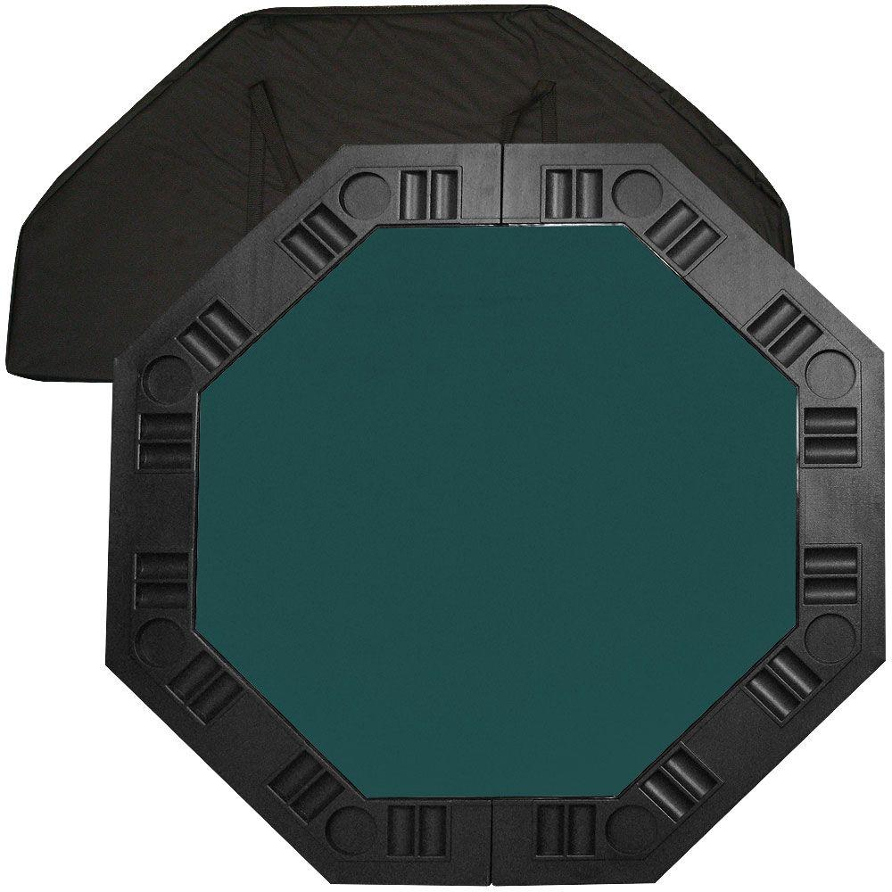 Trademark Poker 8 Player Octagonal 48 in. Dark Green Felt...