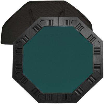 8 Player Octagonal 48 in. Dark Green Felt Table Top