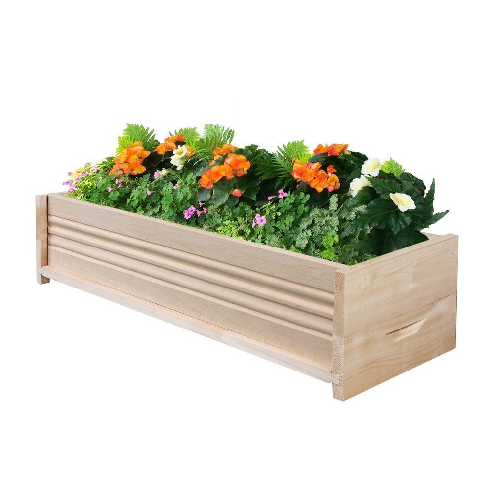 30 in. L Cedar Planter Box