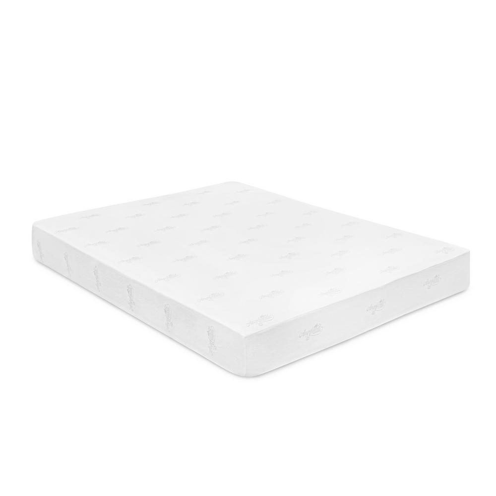 Angeland Queen-Size 10 in. Bamboo Charcoal Memory Foam Mattress