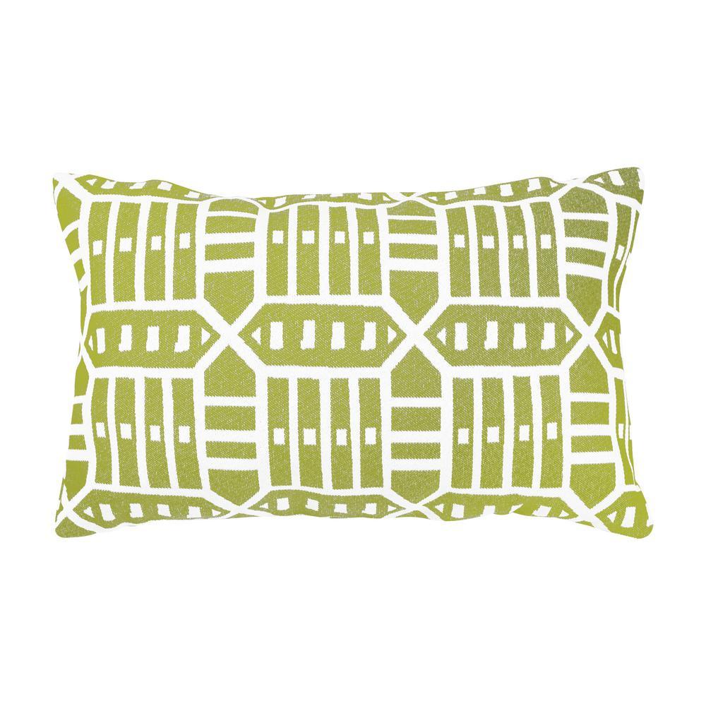 Roland Green Lumbar Outdoor Accent Throw Pillow