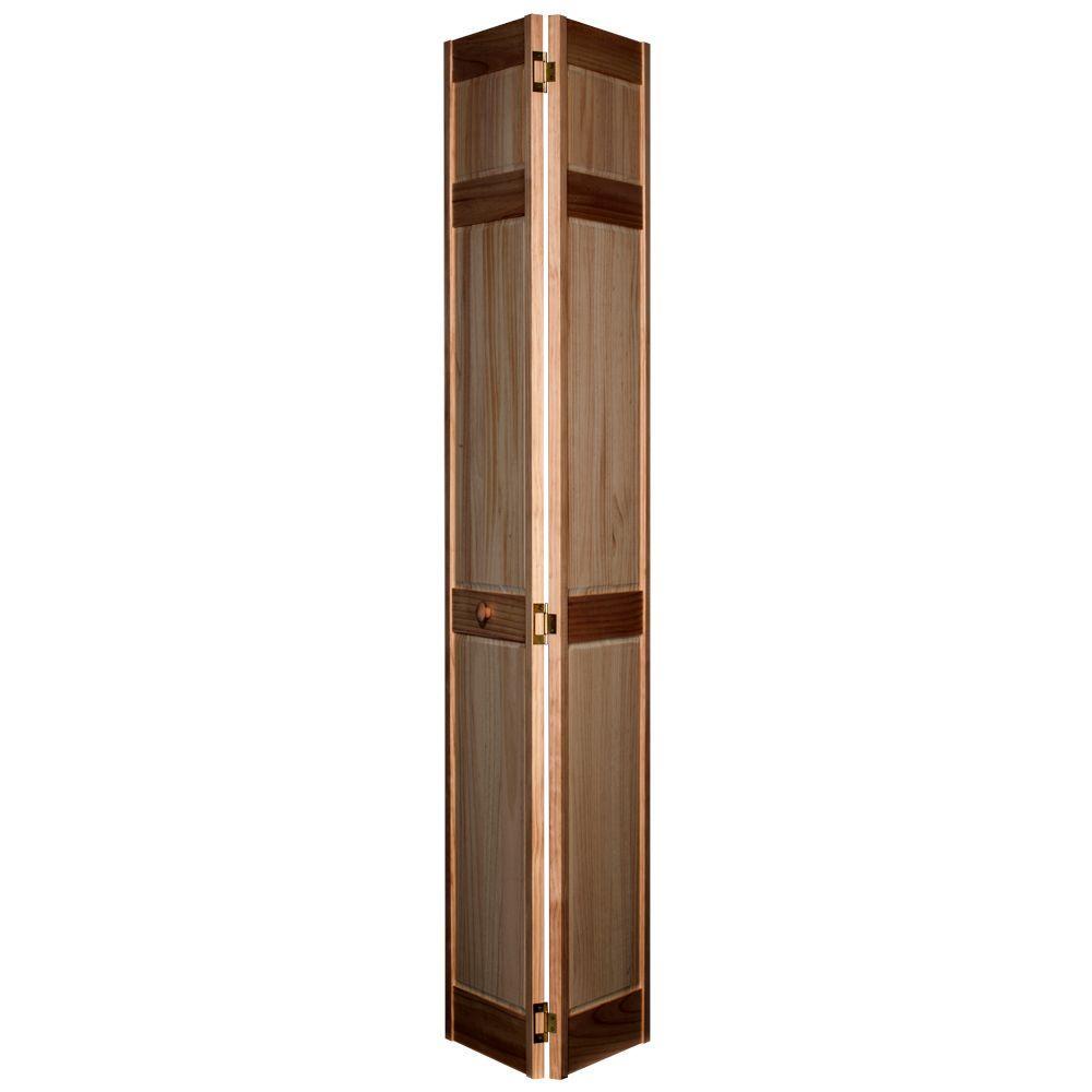 Home Fashion Technologies 6-Panel MinWax Special Walnut Solid Wood Interior Bifold Closet Door-DISCONTINUED