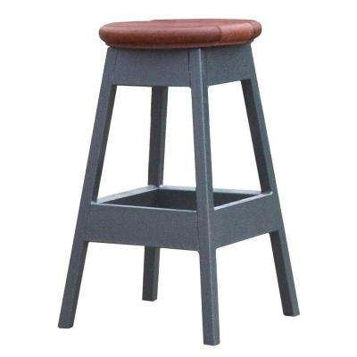 14 in. x 14 in. x 24 in. Bar Stool in Mahogany for Spa Bar