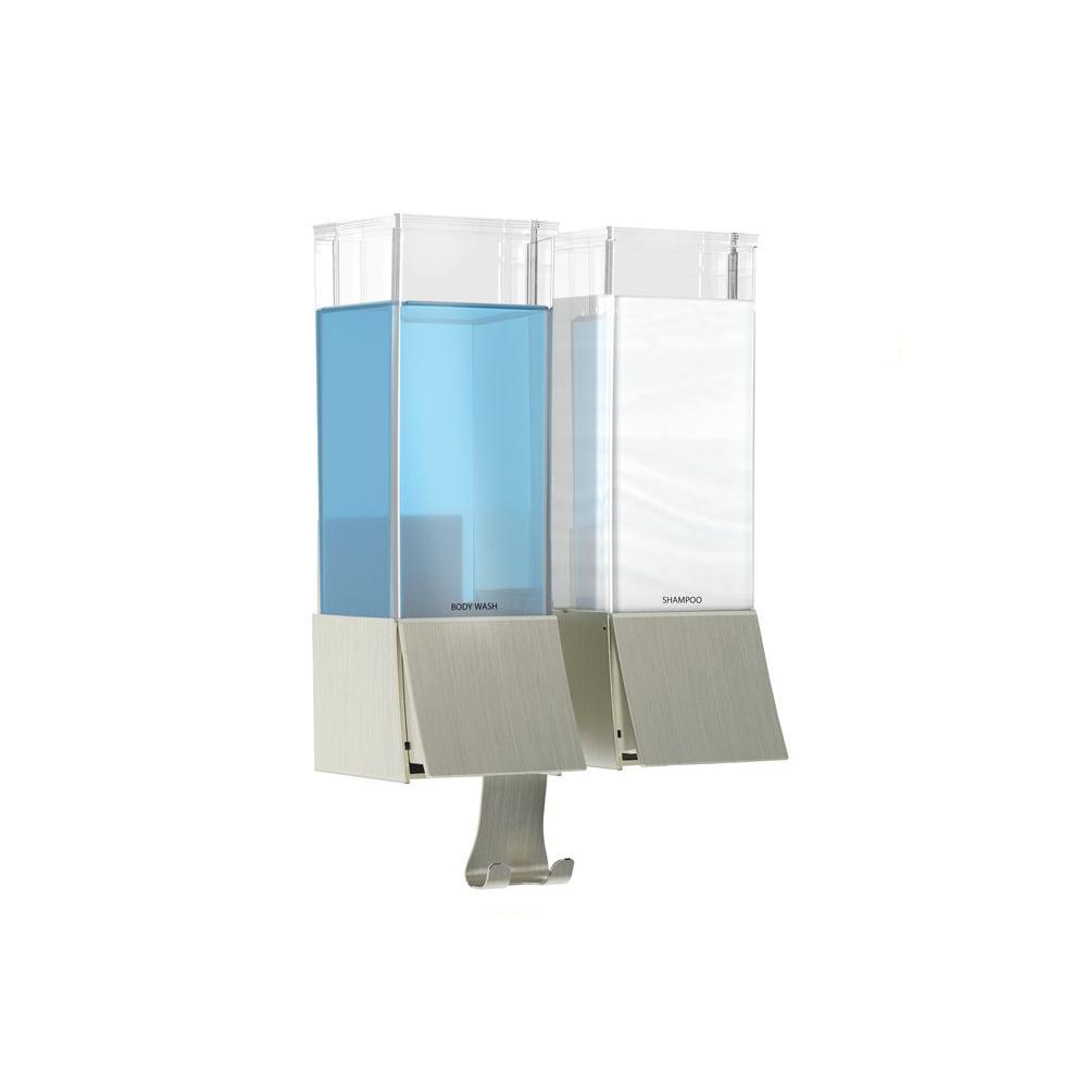 LINEA Double Luxury Soap Dispenser in Brushed Nickel